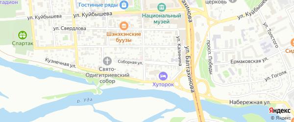 Улица Линховоина на карте Улан-Удэ с номерами домов