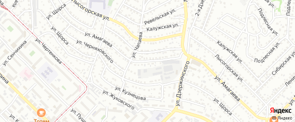 Улица Амагаева на карте Улан-Удэ с номерами домов