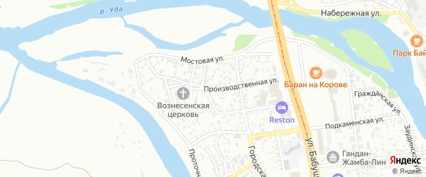 Производственная улица на карте Улан-Удэ с номерами домов