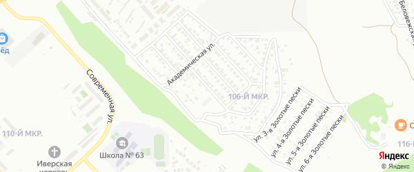 Академическая 1-й проезд на карте Улан-Удэ с номерами домов