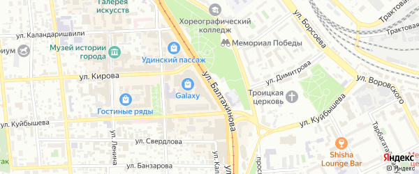 Улица Балтахинова на карте Улан-Удэ с номерами домов