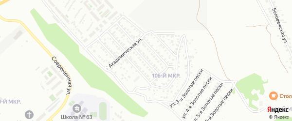Академическая 2-й проезд на карте Улан-Удэ с номерами домов