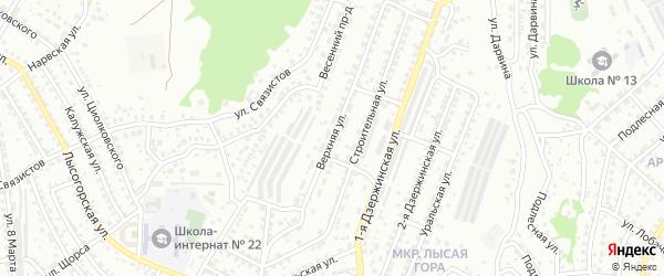 Верхняя улица на карте Улан-Удэ с номерами домов
