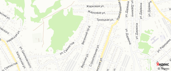 Весенний проезд на карте Улан-Удэ с номерами домов