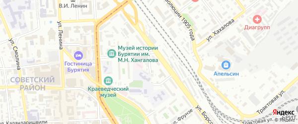 Улица Володарского на карте Улан-Удэ с номерами домов