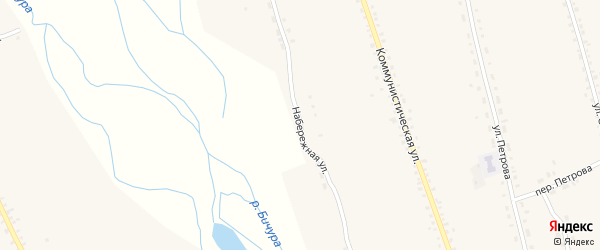 Набережная улица на карте села Бичура с номерами домов