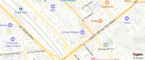 Улица Цивилева на карте Улан-Удэ с номерами домов