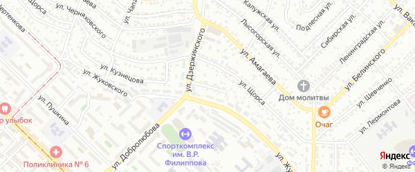 Садовый проезд на карте Улан-Удэ с номерами домов
