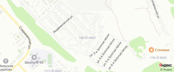 Микрорайон 106 на карте Улан-Удэ с номерами домов