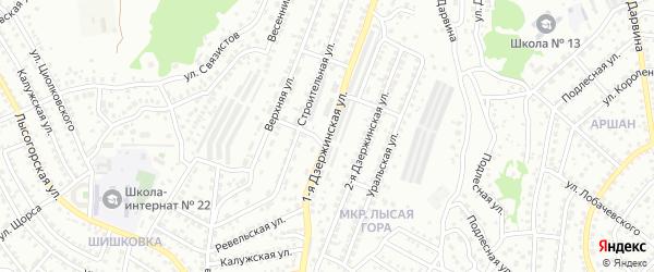 Дзержинского 1-я улица на карте Улан-Удэ с номерами домов