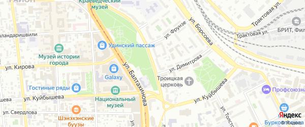 Проспект Победы на карте Улан-Удэ с номерами домов