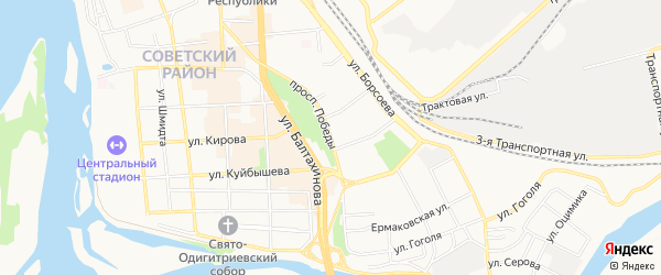 Территория СНТ 20 лет Победы на карте Улан-Удэ с номерами домов