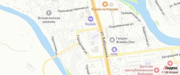 Подкаменский переулок на карте Улан-Удэ с номерами домов