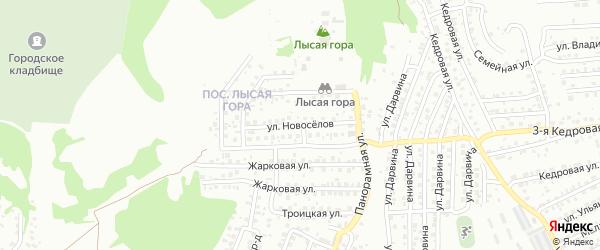 Улица Новоселов на карте Улан-Удэ с номерами домов