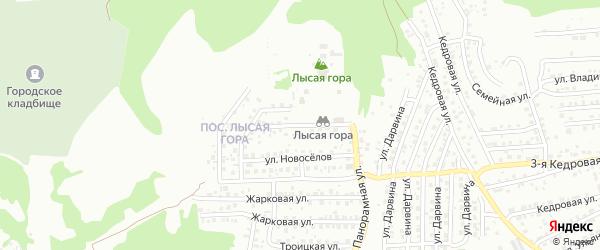 Проектная улица на карте Улан-Удэ с номерами домов