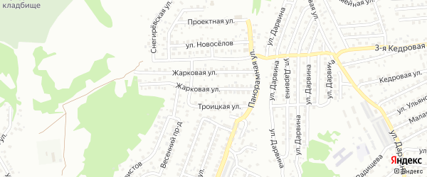 Жарковая улица на карте Улан-Удэ с номерами домов