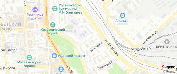 Улица Фрунзе на карте Улан-Удэ с номерами домов