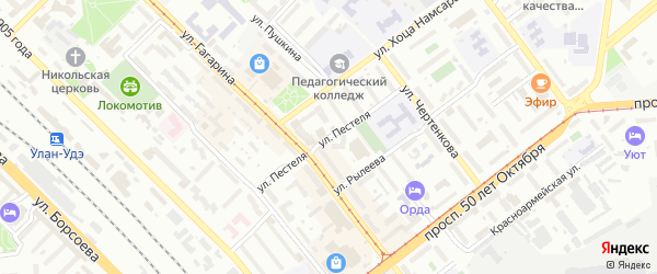 Улица Пестеля на карте Улан-Удэ с номерами домов
