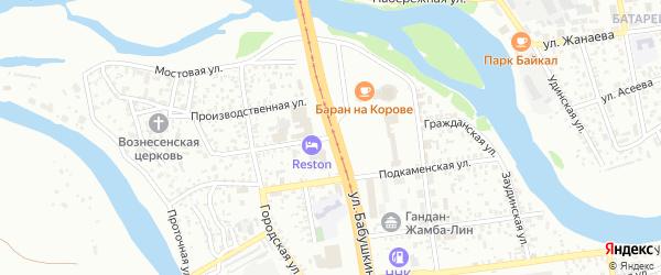 Гражданская улица на карте Улан-Удэ с номерами домов