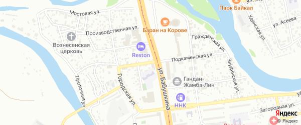 Подкаменская улица на карте Улан-Удэ с номерами домов