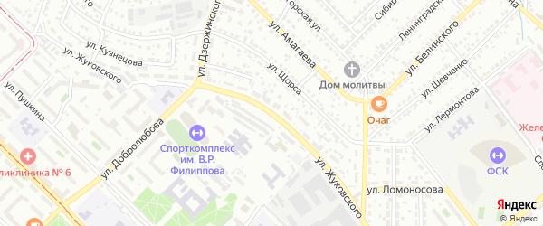 Улица Жуковского на карте Улан-Удэ с номерами домов