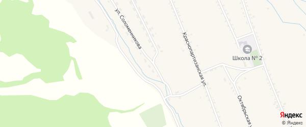 Улица Соломенникова на карте села Бичура с номерами домов
