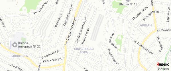 Уральская улица на карте Улан-Удэ с номерами домов