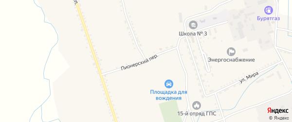 Улица Петрова на карте села Бичура с номерами домов