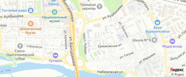 Улица Энгельса на карте Улан-Удэ с номерами домов