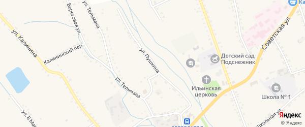 Улица Пушкина на карте села Бичура с номерами домов