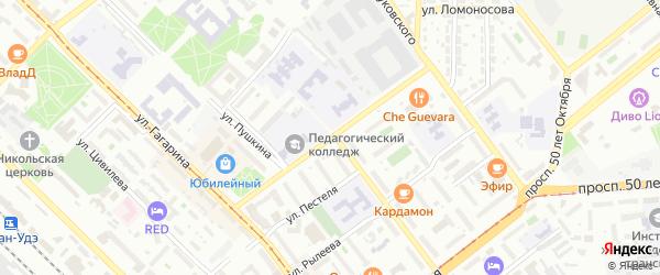 Улица Хоца Намсараева на карте Улан-Удэ с номерами домов