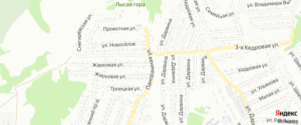 Панорамная улица на карте Улан-Удэ с номерами домов
