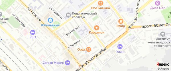 Улица Рылеева на карте Улан-Удэ с номерами домов
