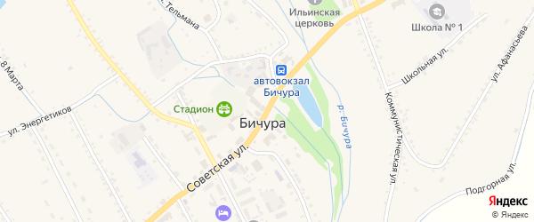 Советская улица на карте села Бичура с номерами домов