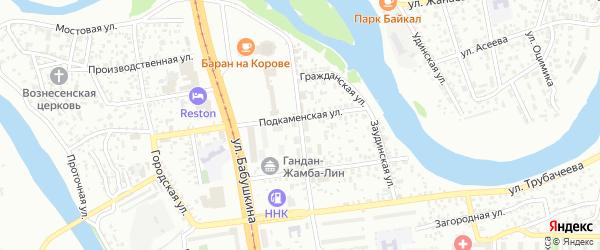 Улица Широких-Полянского на карте Улан-Удэ с номерами домов