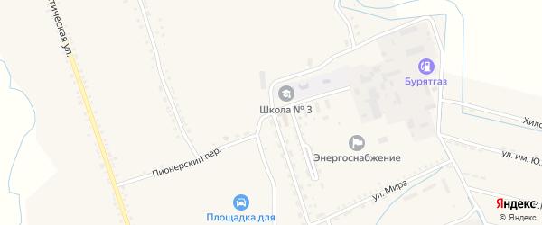 Рабочая улица на карте села Бичура с номерами домов