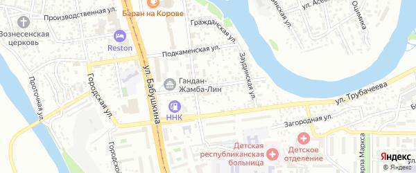Красногвардейская улица на карте Улан-Удэ с номерами домов