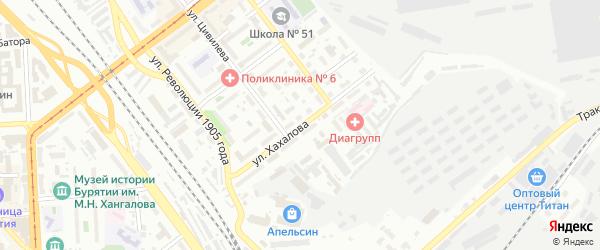 Улица Хахалова на карте Улан-Удэ с номерами домов