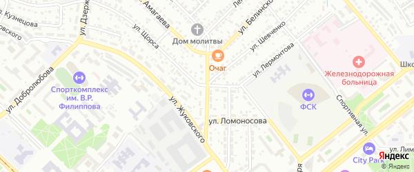 Улица Дундича на карте Улан-Удэ с номерами домов