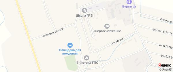 Улица Широких-Полянского на карте села Бичура с номерами домов