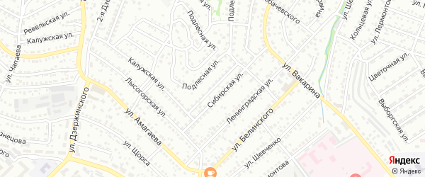 Курганская улица на карте Улан-Удэ с номерами домов