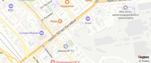 Красноармейская улица на карте Улан-Удэ с номерами домов