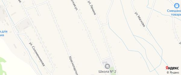 Октябрьская улица на карте села Бичура с номерами домов