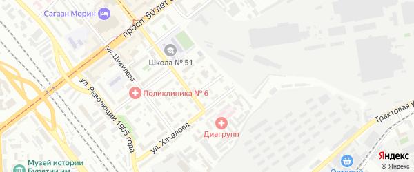 Пионерская улица на карте Улан-Удэ с номерами домов