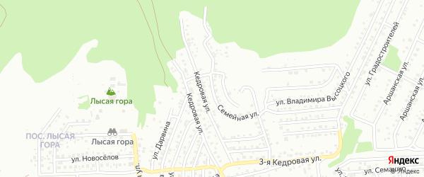Семейная улица на карте Улан-Удэ с номерами домов
