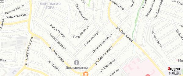 Сибирская улица на карте Улан-Удэ с номерами домов