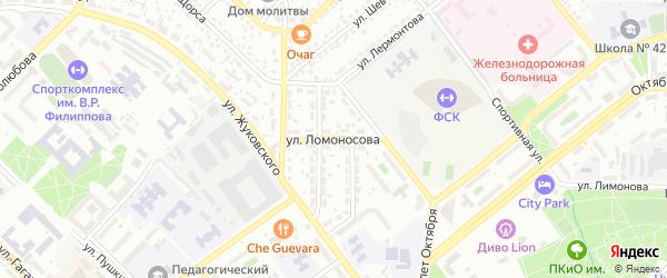 Улица Ломоносова на карте Улан-Удэ с номерами домов