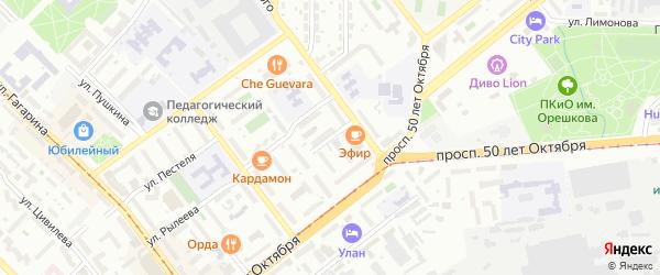Переулок Волконского на карте Улан-Удэ с номерами домов