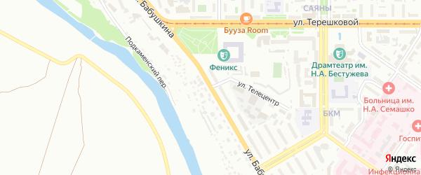 Улица Бабушкина на карте Улан-Удэ с номерами домов