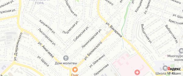 Ленинградская улица на карте Улан-Удэ с номерами домов
